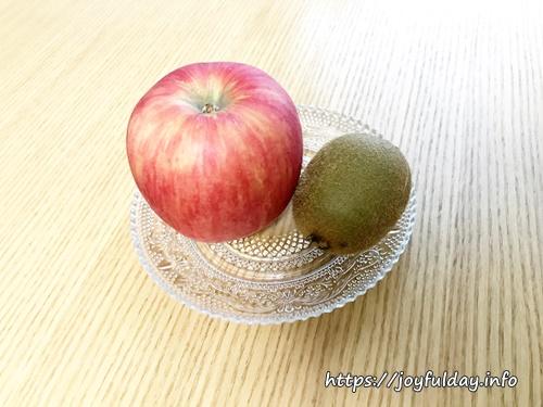 リンゴとキウイフルーツ