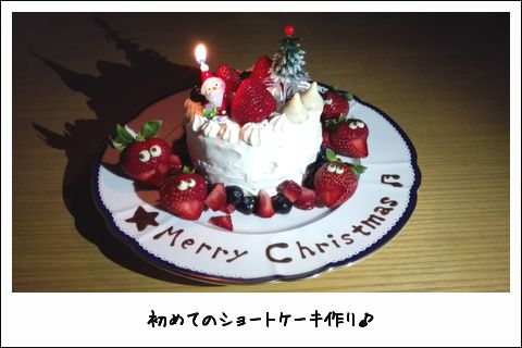 手作りしたクリスマスケーキ